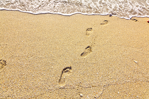Footsteps in the sand journey